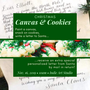 SOLD OUT Christmas Canvas and Cookies