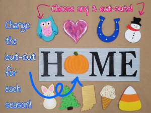 HOME Interchangeable Board Signs