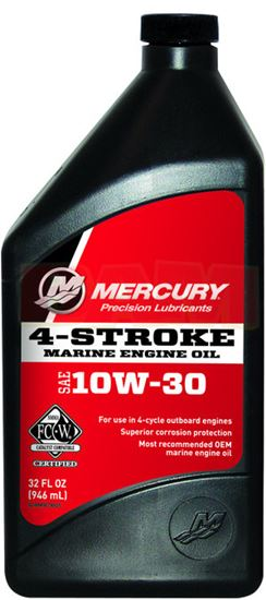 Mercury 4-Stroke 10W-30 O/B Oil 32oz Ea 92-8M0078625