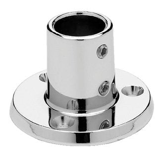 "Seachoice Rail Fitting Round 90' 7/8"" Chrome 50-37821"