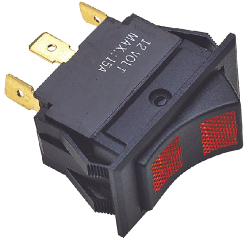 Seachoice Rocker Switch On Red/Off/On Red 50-12441