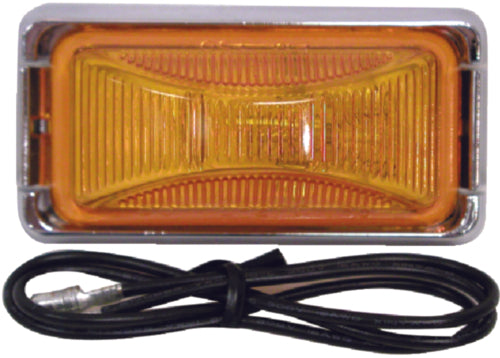 Anderson Clearance & Side Marker Light Amber/Chrome E150KA