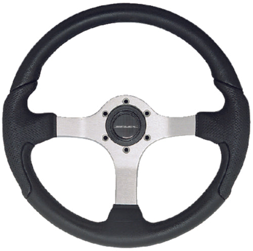 U-Flex Steering Wheel Nisida Satin Finish w/Black Grip NISIDABS