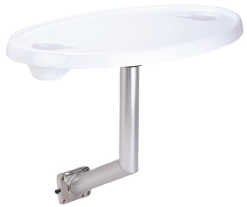 "Garelick Oval Table Top 30"" w/Side Mnt White 75359"