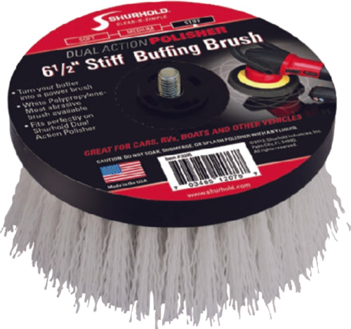 Shurhold Dual Action Polisher Scrub Brush Stiff 3205