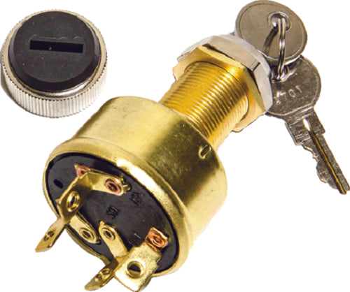 Sierra Ignition/Starter Switch 4 Position Brass MP39070
