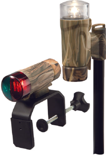Attwood C-Clamp Mnt Portable LED Nav Light Kit w/Telescoping Pole Camo 14191-7