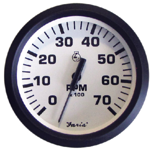 """TACHOMETER GAS 7000RPM OUTBOARDS 678-32805 4/"""" FARIA GAUGE BOAT UNIVERSAL ALL"""