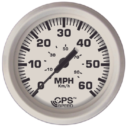 "Faria Dress White GPS/Speedometer 4"" 60mph 33147"