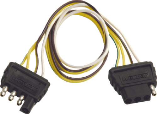 Wesbar Trailer Wire Harness Extension 4-Way 2ft 707254