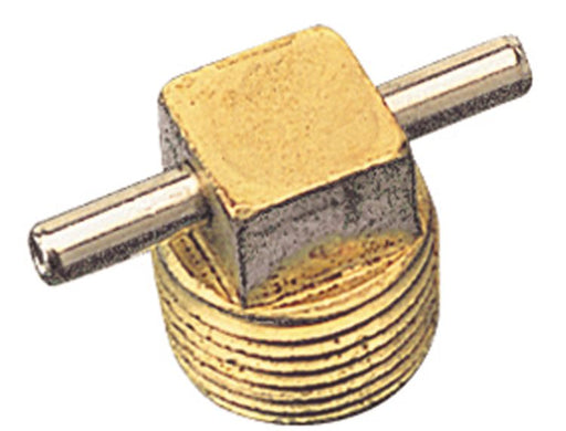"Seadog Bilge Drain Plug w/T-Handle ONLY Brass 1/2"" 520043-1"