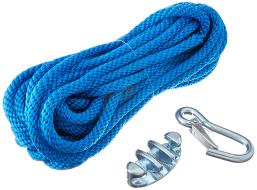 "Panther Anchor Line Poly 3/8""x50ft w/Cleat & Snap Hook Blue 75-7000"