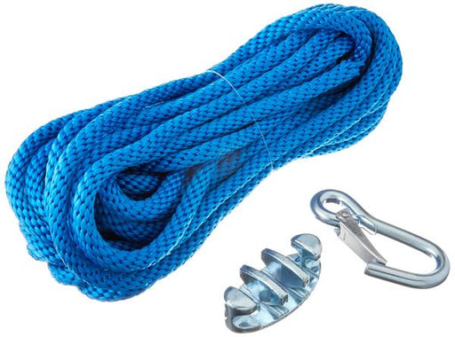 "Panther Anchor Line Poly 3/8""x100ft w/Cleat & Snap Hook Blue 75-7010"