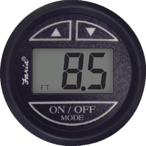 Faria Euro Digital Depth Sounder w/Transducer Blk 12850