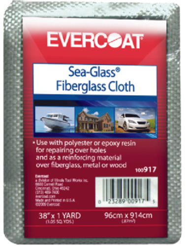"Evercoat Sea-Glass Fiberglass Cloth 38""x3 Yards 100918"