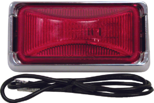 Anderson Clearance/Side Marker Light Red/Chrome E150KR