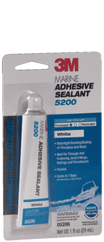 3M 5200 Adhesive/Sealant White 1oz 05206