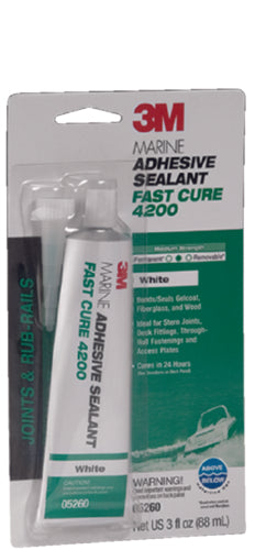3M 4200 Fast Cure Adhesive/Sealant White 3oz 05260