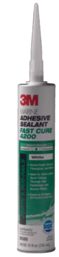 3M 4200 Fast Cure Adhesive/Sealant White 10oz 06560