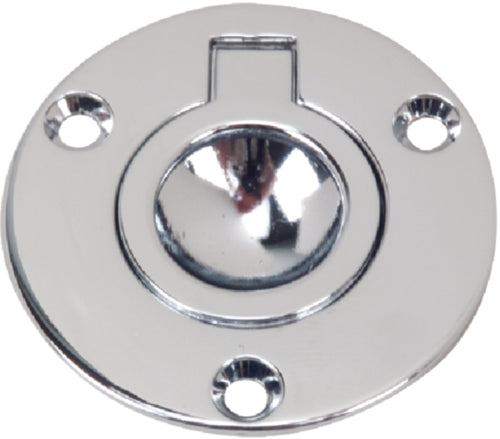 "Perko Round Ring Pull Flush Mnt 2"" Chrome 1232-DP2-CHR"