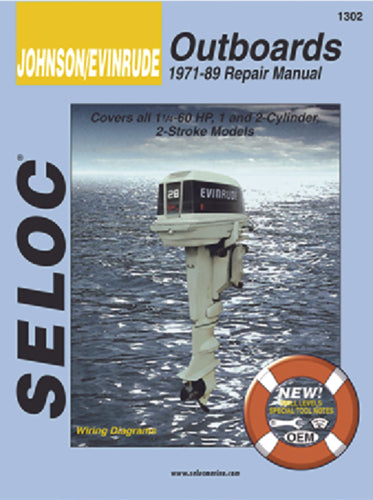 Seloc Manual Johnson/Evinrude O/B 1973-1989 1302