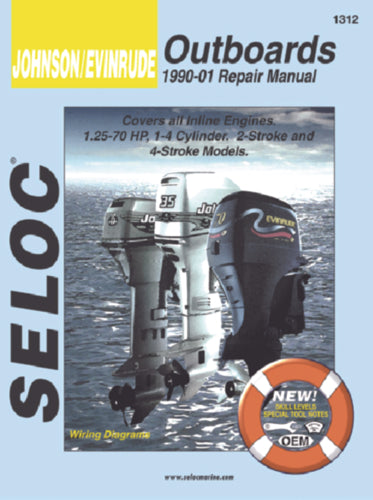 Seloc Manual Johnson/Evinrude O/B 1990-2001 1312
