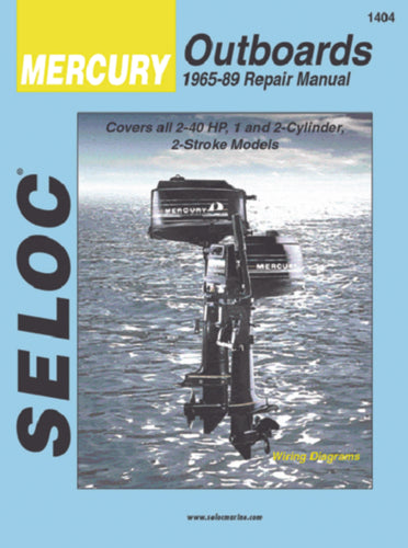 Seloc Manual Mercury O/B 1965-1989 1404