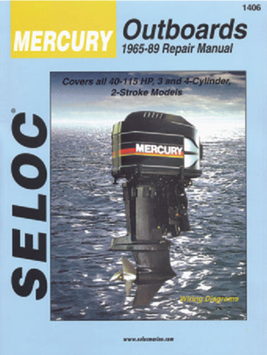 Seloc Manual Mercury O/B 1965-1989 1406