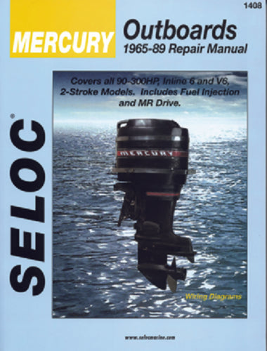 Seloc Manual Mercury O/B 1965-1989 1408