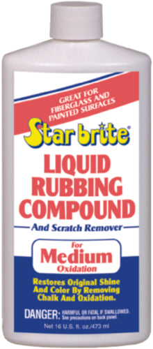 Starbrite Liquid Medium Oxidation Rubbing Compound 16oz 81316