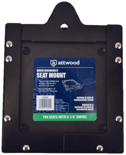"Attwood Quick Disconnect Seat Mnt 6-1/4"" 11602D1"
