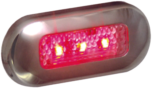 T-H Marine LED Courtesy Light Red w/S/S Bezel LED-51824-DP