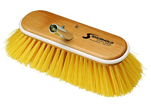 "Shurhold Deck Brush Medium Yellow 10"" 985"