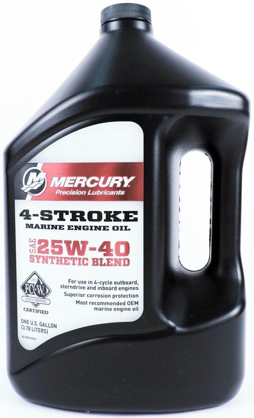 Mercury 4-Stroke 25W-40 Synthetic Blend Engine Oil Gal Ea 92-8M0078630