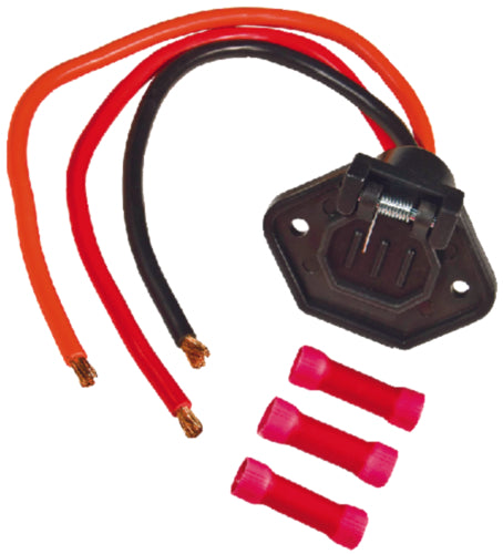 Sierra Trolling Motor Receptacle Male 2-Prong 24v WH10540-1