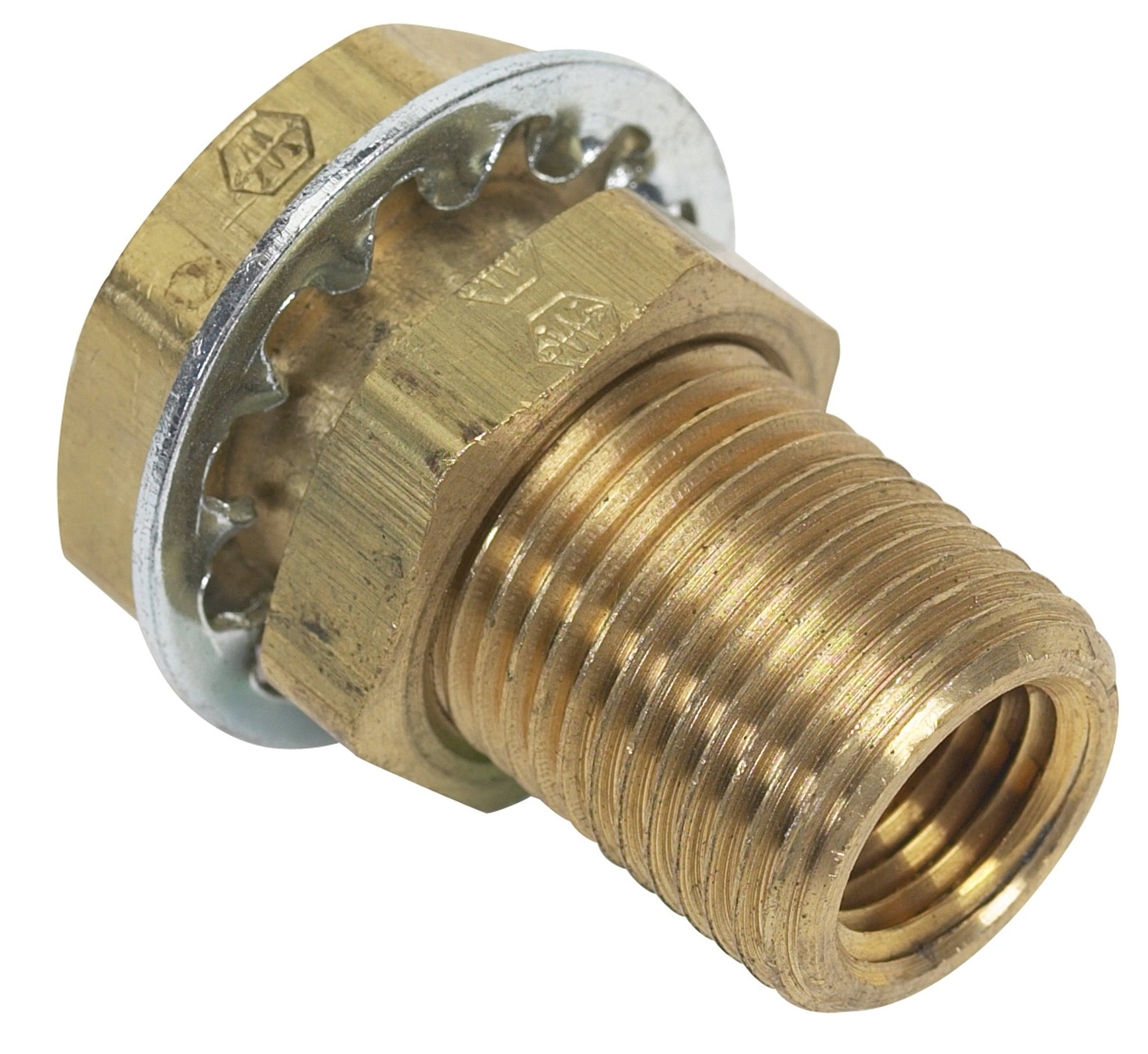 "Moeller Fuel Bulkhead Fitting 1/4"" Brass 033435-10"