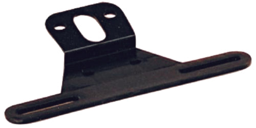 Optronics Trailer License Plate Bracket Angled Black LP-10SBP