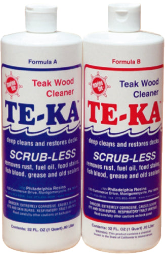 Marine Tex Te-Ka Teak Cleaner Half Gallon Kit RM341K