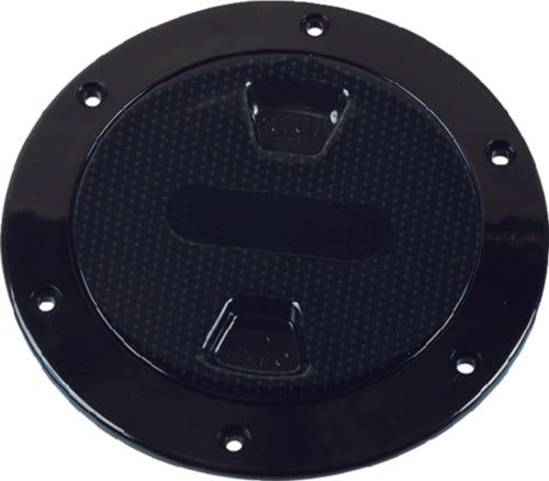 "TH Marine Low Profile Twist Out Deck Plate 4/"" Diameter White Textured Lid"