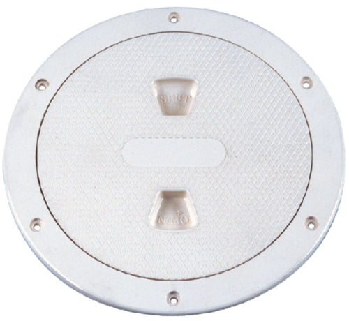 "Beckson Deck Plate Non-Skid Screw-Out 6"" White DP-64-W"