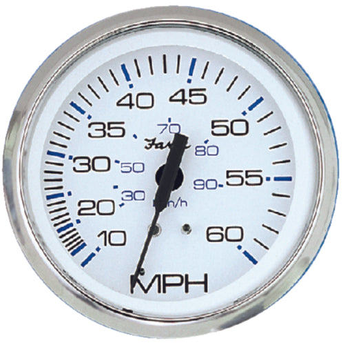 "Faria Chesapeake White S/S Speedo 4"" 60mph 33811"