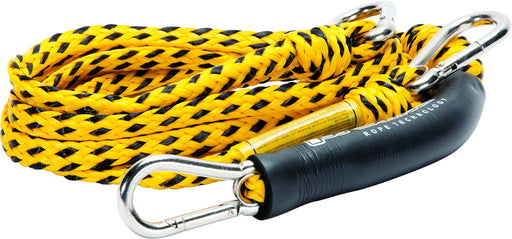 Yellow and black tow rope