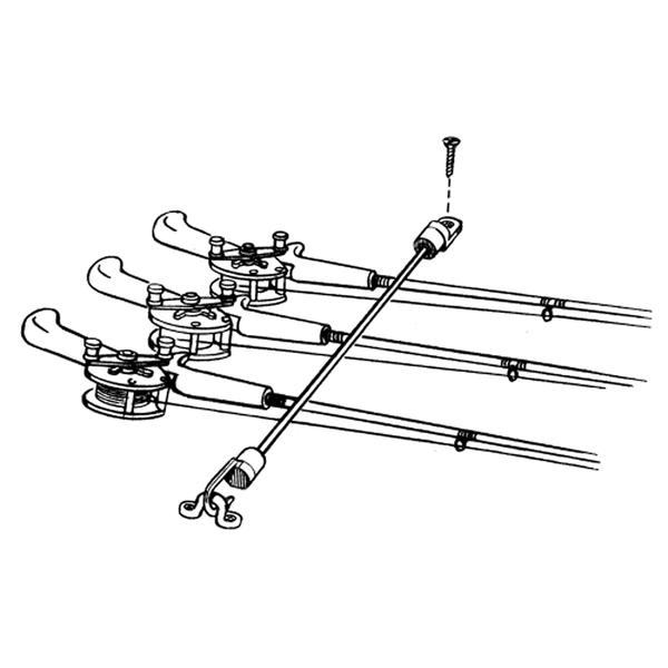 T-H Marine Rod Tamer 7 Rod Hold Down Strap RT-18-DP
