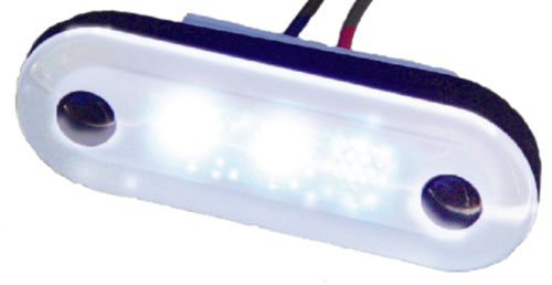Aqua Signal Santiago 3-LED Courtesy Light Oval White 16400-7