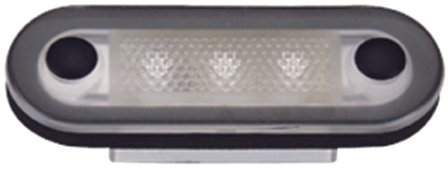 Aqua Signal Santiago 3-LED Courtesy Light Oval S/S Housing White 16420-7
