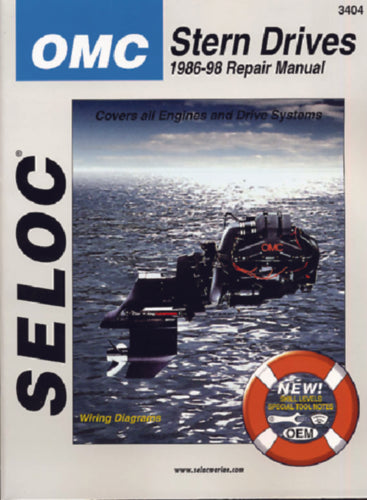 Seloc Manual OMC Cobra Sterndrive 1986-1998 3404