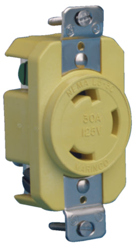Marinco Locking Receptacle 30a/125v 305CRR