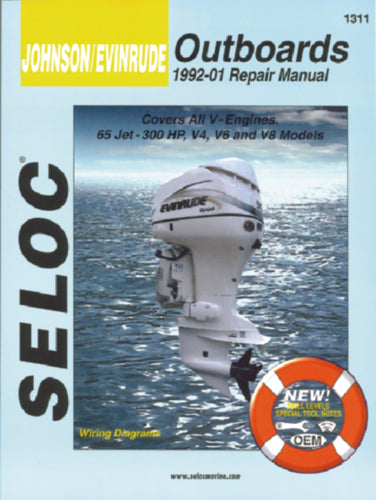 Seloc Manual Johnson/Evinrude O/B 1992-2001 1311