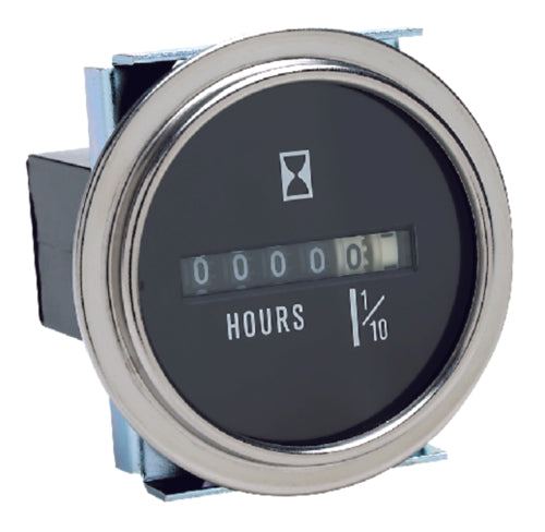 Seachoice Hour Meter Chrome 50-15301