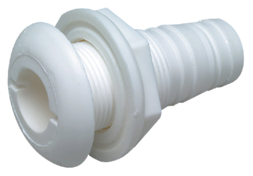 Seachoice Thru-Hull Connectors w/Broad Flanges Black & White
